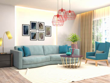 living room interior designers in kolkata
