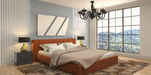 guest bedroom interior