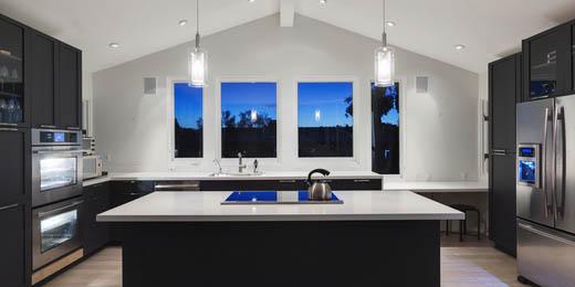 island kitchen interior